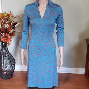 Diane Von Furstenberg silk 3/4 sleeve dress